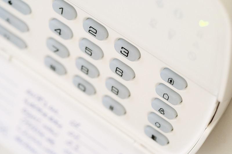 clavier de système d'alarme