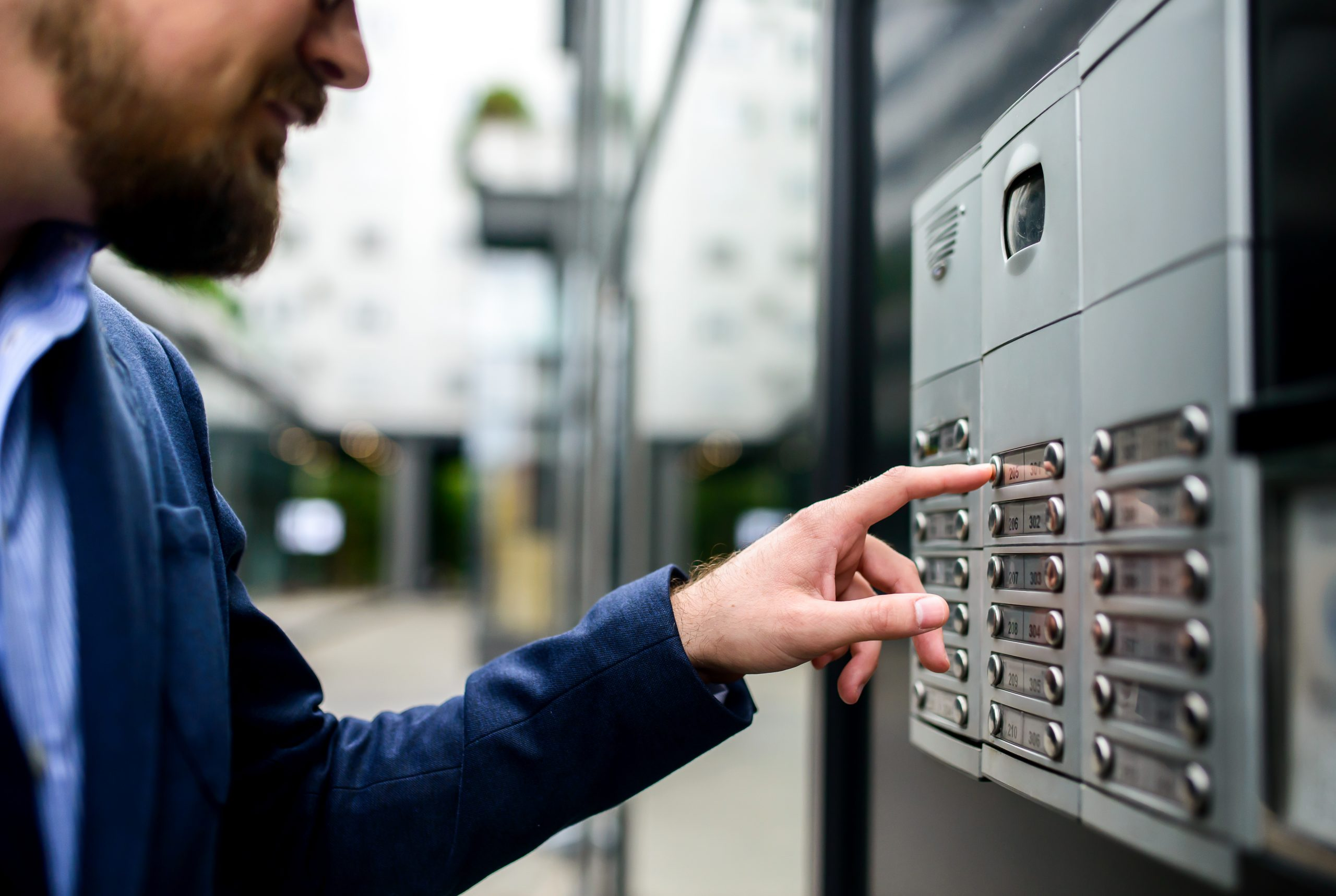 contrôle d'accès avec interphonie