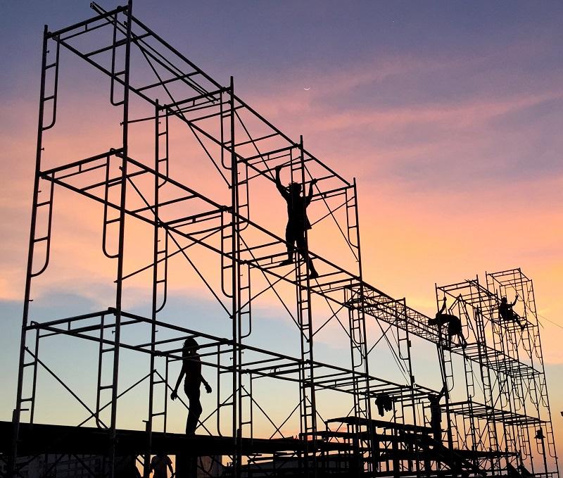 sécurité des échafaudages pour chantier